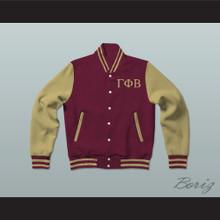 Gamma Phi Beta Sorority Varsity Letterman Jacket-Style Sweatshirt