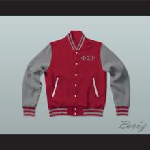 Phi Sigma Rho Sorority Varsity Letterman Jacket-Style Sweatshirt