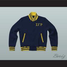 Sigma Gamma Rho Sorority Varsity Letterman Jacket-Style Sweatshirt