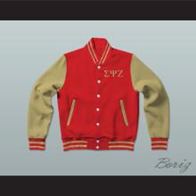 Sigma Psi Zeta Sorority Varsity Letterman Jacket-Style Sweatshirt