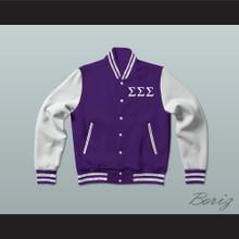 Sigma Sigma Sigma Sorority Varsity Letterman Jacket-Style Sweatshirt