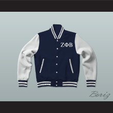 Zeta Phi Beta Sorority Varsity Letterman Jacket-Style Sweatshirt