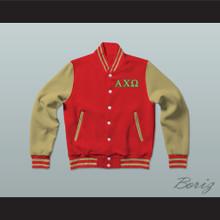 Alpha Chi Omega Sorority Varsity Letterman Jacket-Style Sweatshirt