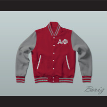 Alpha Phi Sorority Varsity Letterman Jacket-Style Sweatshirt