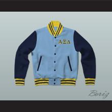 Alpha Xi Delta Sorority Varsity Letterman Jacket-Style Sweatshirt