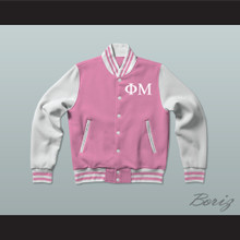 Phi Mu Sorority Varsity Letterman Jacket-Style Sweatshirt