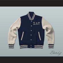 Sigma Delta Tau Sorority Varsity Letterman Jacket-Style Sweatshirt