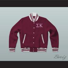Sigma Kappa Sorority Varsity Letterman Jacket-Style Sweatshirt