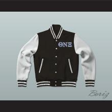 Theta Nu Xi Sorority Varsity Letterman Jacket-Style Sweatshirt