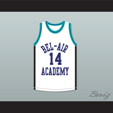purchase cheap d7a8f fcb03 Will Smith 14 Bel-Air Academy Sneaker Colors Basketball Jersey