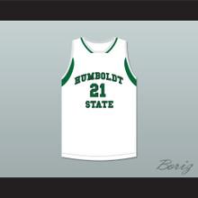 Zach Christian 21 Humboldt State Broncos Basketball Jersey
