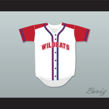 Chad Danforth 8 East High School Wildcats Baseball Jersey Design 1