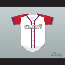 Chad Danforth 8 East High School Wildcats Baseball Jersey Design 2
