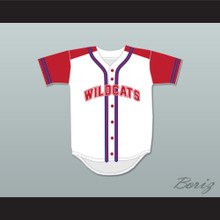 Troy Bolton 14 East High School Wildcats Baseball Jersey Design 1