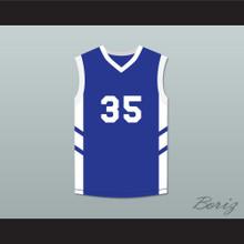 Jerry 'Assassin' Dupree 35 Blue Basketball Jersey Dennis Rodman's Big Bang in PyongYang