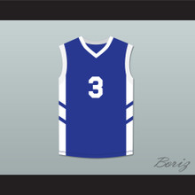 Cliff Robinson 3 Blue Basketball Jersey Dennis Rodman's Big Bang in PyongYang