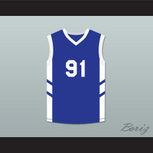 Dennis Rodman 91 Blue Basketball Jersey Dennis Rodman's Big Bang in PyongYang