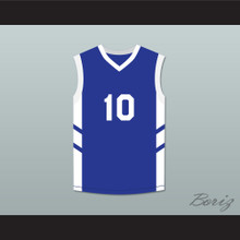 Guy 'Frequent Flyer' Dupree 10 Blue Basketball Jersey Dennis Rodman's Big Bang in PyongYang