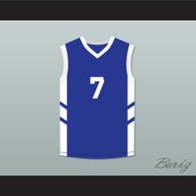 Kenny Anderson 7 Blue Basketball Jersey Dennis Rodman's Big Bang in PyongYang