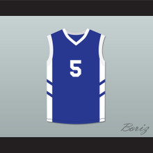 Andre 'Silk' Pool 5 Blue Basketball Jersey Dennis Rodman's Big Bang in PyongYang