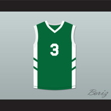 Cliff Robinson 3 Green Basketball Jersey Dennis Rodman's Big Bang in PyongYang
