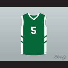 Andre 'Silk' Pool 5 Green Basketball Jersey Dennis Rodman's Big Bang in PyongYang