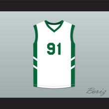 Dennis Rodman 91 White Basketball Jersey Dennis Rodman's Big Bang in PyongYang