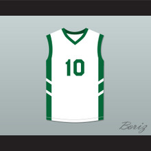Guy 'Frequent Flyer' Dupree 10 White Basketball Jersey Dennis Rodman's Big Bang in PyongYang