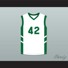 Vin Baker 42 White Basketball Jersey Dennis Rodman's Big Bang in PyongYang
