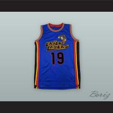 Aaliyah 19 Bricklayers Blue Basketball Jersey