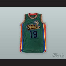 Aaliyah 19 Bricklayers Green Basketball Jersey