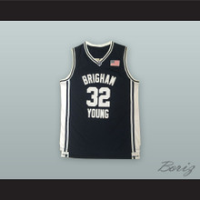 Jimmer Fredette 32 Brigham Young Black Basketball Jersey