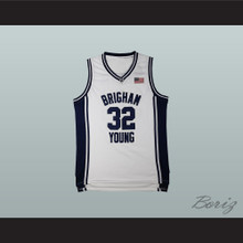 Jimmer Fredette 32 Brigham Young White Basketball Jersey