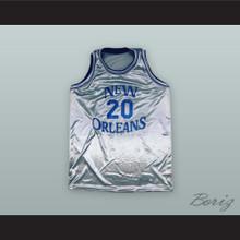 Robert Hokett 20 New Orleans Privateers Basketball Jersey