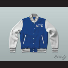 Alpha Gamma Sigma Fraternity Varsity Letterman Jacket-Style Sweatshirt