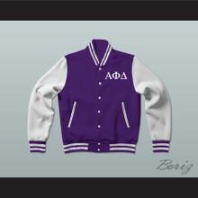 Alpha Phi Delta Fraternity Varsity Letterman Jacket-Style Sweatshirt