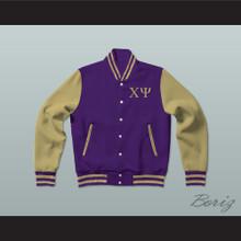 Chi Psi Fraternity Varsity Letterman Jacket-Style Sweatshirt