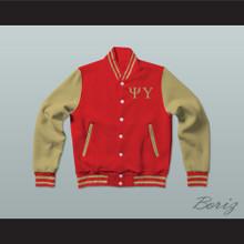 Psi Upsilon Fraternity Varsity Letterman Jacket-Style Sweatshirt