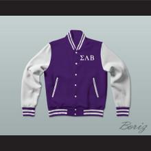 Sigma Lambda Beta Fraternity Varsity Letterman Jacket-Style Sweatshirt
