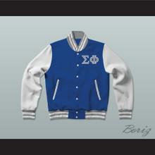 Sigma Phi Society Fraternity Varsity Letterman Jacket-Style Sweatshirt
