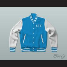 Sigma Tau Gamma Fraternity Varsity Letterman Jacket-Style Sweatshirt