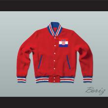 Croatia Varsity Letterman Jacket-Style Sweatshirt