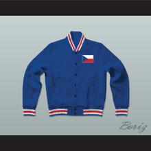 Czech Republic Varsity Letterman Jacket-Style Sweatshirt