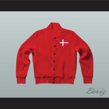 Danmark/Denmark Varsity Letterman Jacket-Style Sweatshirt