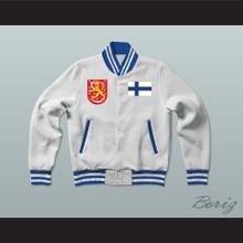 Finland Varsity Letterman Jacket-Style Sweatshirt