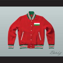 Hungary Varsity Letterman Jacket-Style Sweatshirt