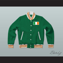 Ireland Varsity Letterman Jacket-Style Sweatshirt