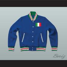 Italia/Italy Varsity Letterman Jacket-Style Sweatshirt