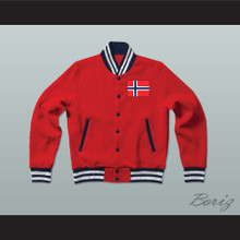 Norway Varsity Letterman Jacket-Style Sweatshirt