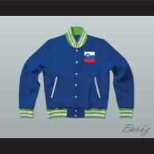 Slovenija/Slovenia Varsity Letterman Jacket-Style Sweatshirt